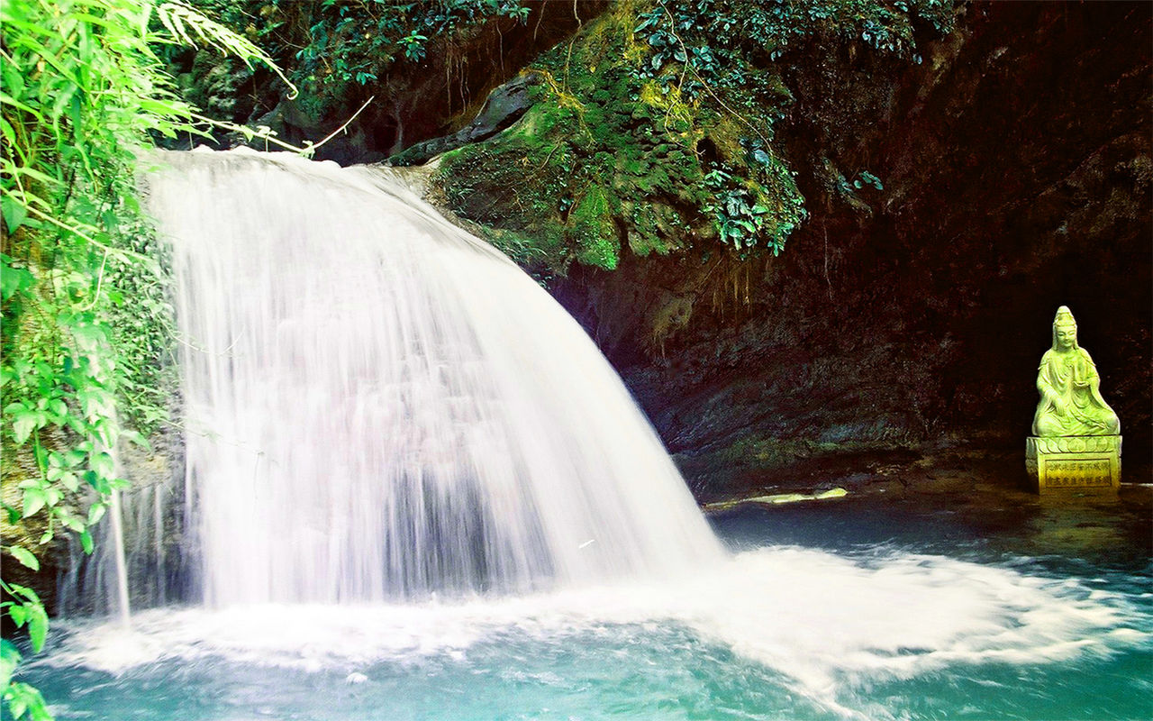 壁纸 风景 旅游 瀑布 山水 桌面 1280_800